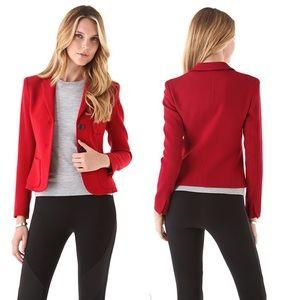 Theory Nillian Valleius Jacket Red Virgin Wool 2